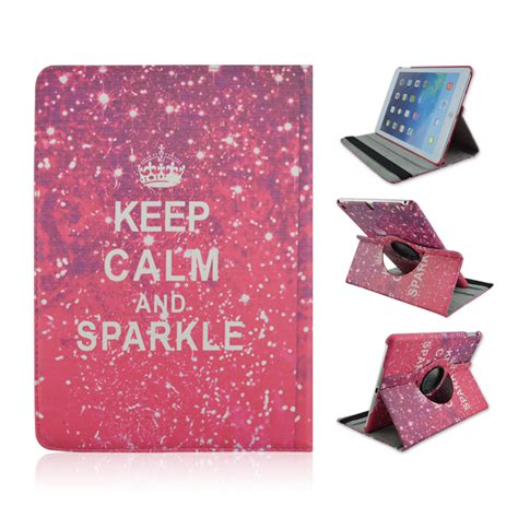 Air Rotate 360 Leather Flip Casing Cover Stand Kulit Kuat keep calm and sparkle 360 rotate flip stand pu leather tablet cover for mini 1 2 3