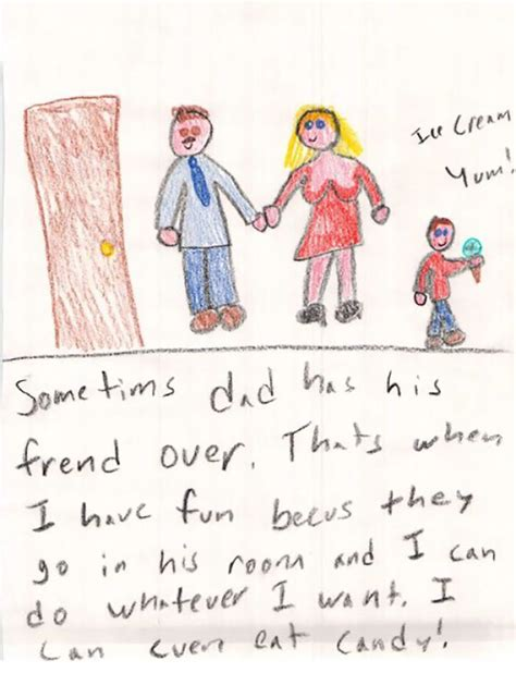 drawing for parents 10 honest kid s drawings that exposed secrets of their