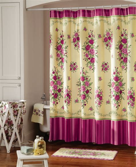 shabby chic pink curtains shabby chic pink country bathroom shower curtain