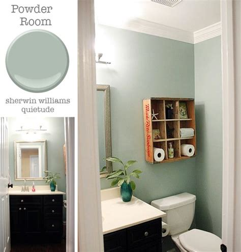 quietude paint powder room sherwin williams quietude pretty handy