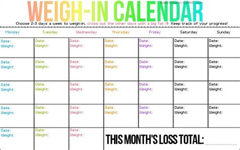 printable monthly weight loss calendar free senior exercise programs workout weight loss