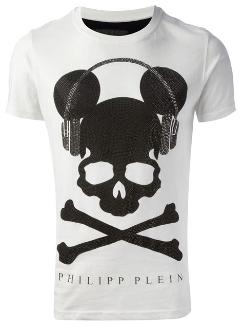 T Shirt Skull Print philipp plein skull print tshirt in white for lyst