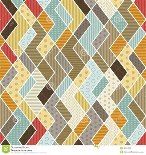 Geometric Patchwork Patterns - geometric patchwork pattern stock vector image 49024866