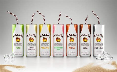 malibu rum can pre mixed rum cans rum in a can