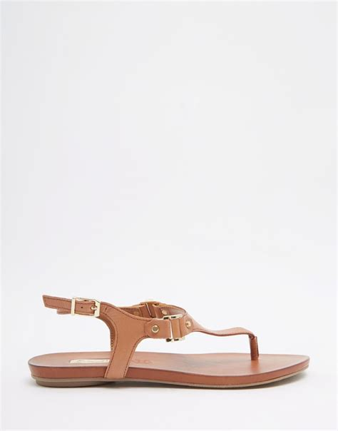 aldo brown sandals aldo ldo cognac ankle fastener sandals in