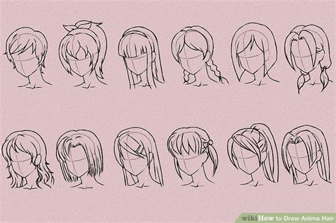 anime hairstyles ponytails 6 ways to draw anime hair wikihow