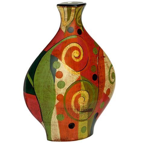 40cm Picasso Collection Painted Ceramic Vase