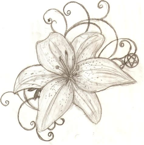 lily flower tattoo design images designs