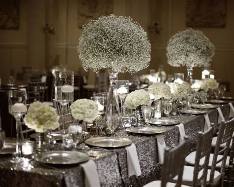 25  best ideas about Silver Wedding Decorations on