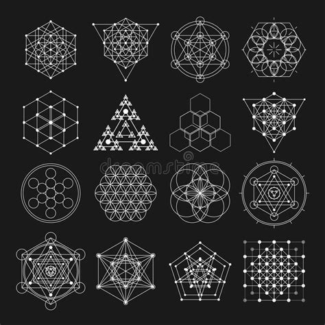 Sacred Geometry Vector Design Elements Alchemy Religion Mysterious Sacred Geometry Designs