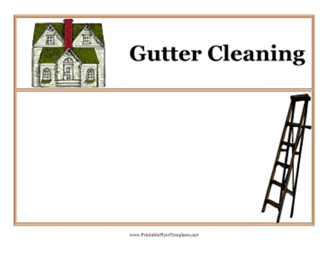 free printable business flyers templates gutter cleaning flyers