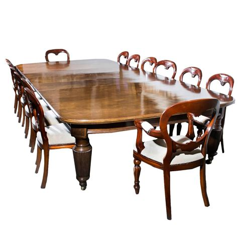 Antique Dining Table And Chairs For Sale Antique Extending Dining Table 14 Chairs Circa 1880 For Sale At 1stdibs