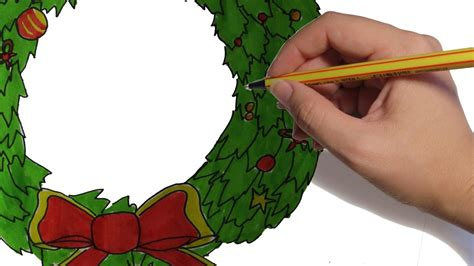 dibujos de navidad paso a paso como dibujar una guirnalda de navidad paso a paso dibujos de navidad facil y a color