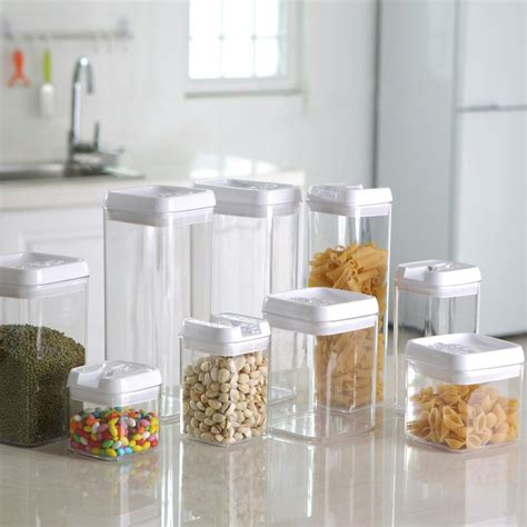 Clear Glass Kitchen Canisters kitchen storage jars container for food cooking tools