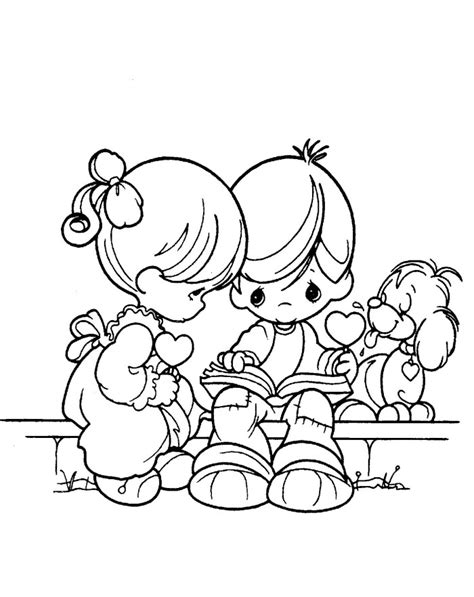 valentine angels coloring pages precious moments valentine coloring pages bestofcoloring com