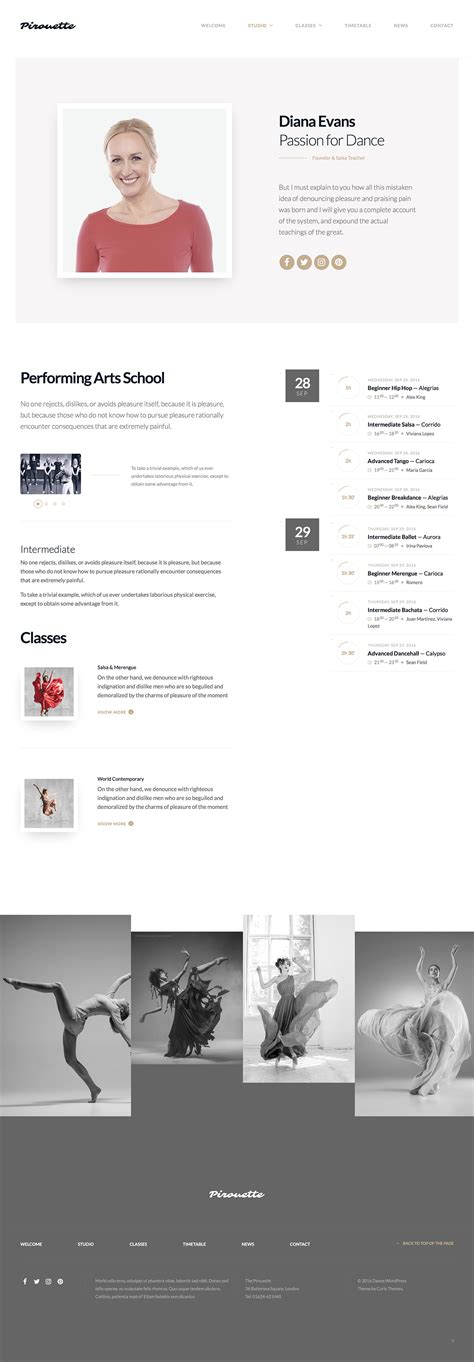 theme wordpress dance dance wordpress theme dancing academy by curlythemes