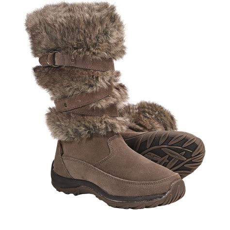 boots with fur khombu marker faux fur winter boots for 4820a
