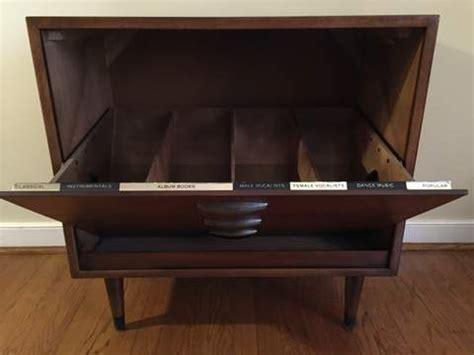 mid century album storage cabinet  lane acclaim epoch