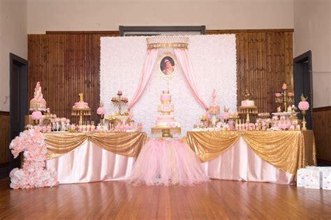 Kara's Party Ideas Gold & Pink Royal Princess Birthday Party   Kara's Party Ideas