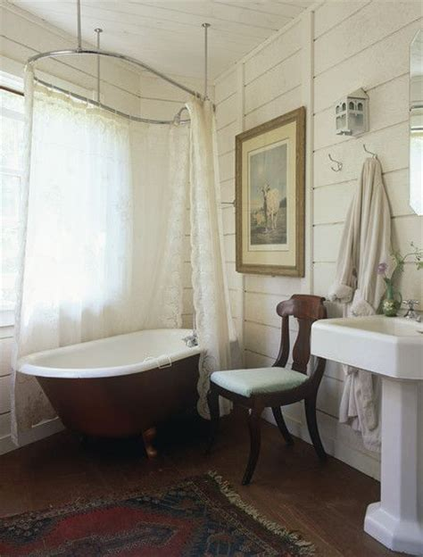 clawfoot bath shower curtain rail pedestal clawfoot tubs and bathroom photos on pinterest