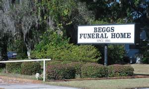 beggs funeral home details county florida