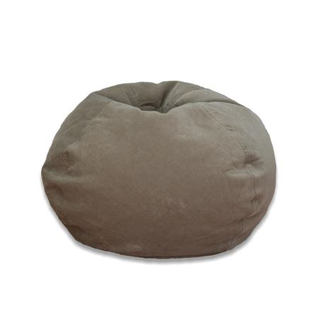 ace casual furniture taupe corduroy bean bag 9603201