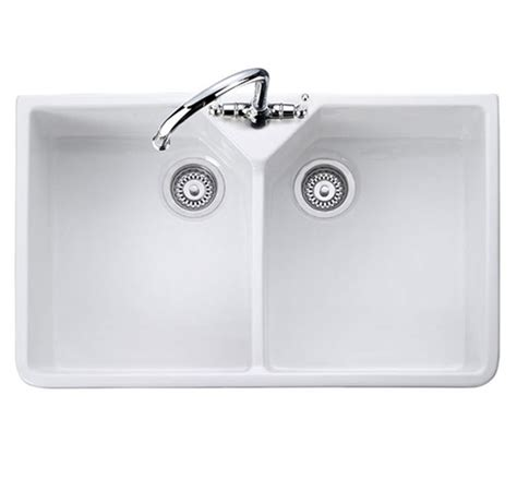 Rangemaster Double Bowl Belfast White Ceramic Kitchen Sink Rangemaster Kitchen Sinks