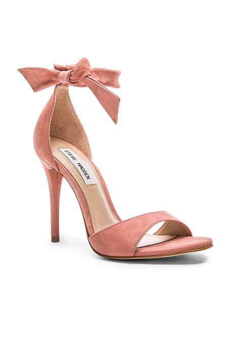 steve madden heeled sneakers steve madden bowwtye heel in pink lyst