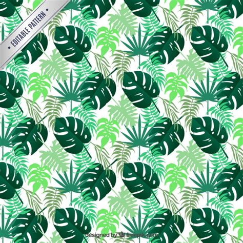 tropical pattern background free tropical leaves pattern vector free download