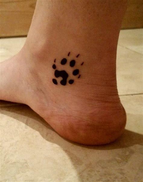 inner foot tattoo my ferret foot print left lower inner ankle