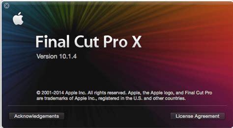 final cut pro x 10 1 4 actualizaci 211 n apple lanza final cut pro x 10 1 4 con