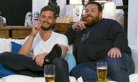 what is celebrity gogglebox celebrity gogglebox jamie dornan spits out beer while
