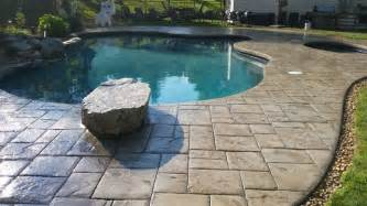 Bathroom Design Nj Stamped Concrete Pool Deck And Patio Sealed With Ar350 By