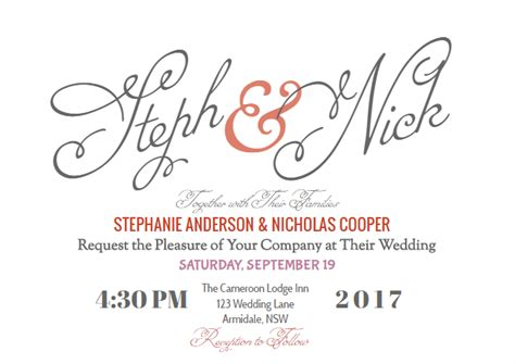 wedding invitations templates for google docs how to create your modern wedding invitation online with