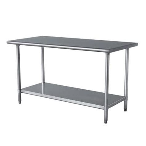 Stainless Steel Kitchen Work Table Amerihome Stainless Steel Kitchen Work Table 24 In X 49 In Sswtableamerihome 100670856