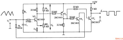 Transistor 2sa952 the basic voltage frequency conversion circuit composed of