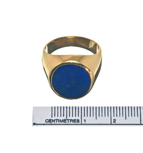 lapis lazuli and gold plated sterling silver ring regnas