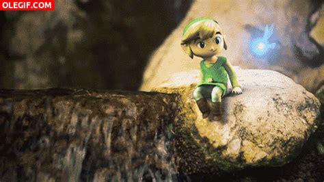 imagenes gif videojuegos gif link sentado en una roca gif 3267