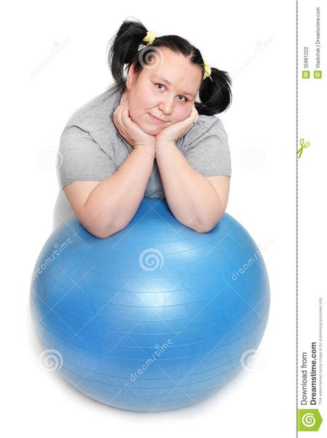 how to photograph heavy women overweight woman exercising stock photography image