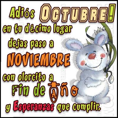 imagenes bienvenido octubre 2015 carteles frases saludos para el mes de noviembre hola