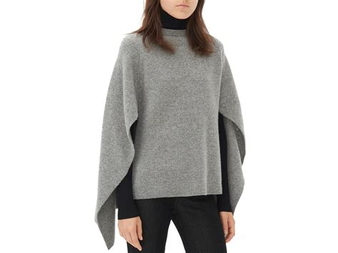 Sweater Inspired Lyst Sandro Cape Style Sweater In Gray