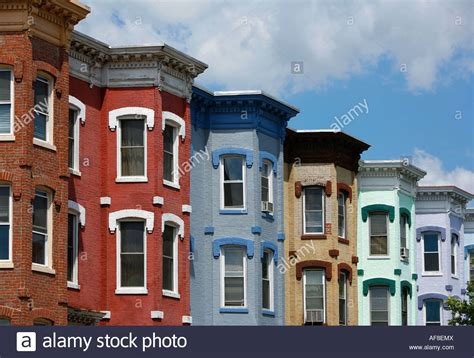 we buy houses washington dc colourful facades of row houses washington dc america usa stock photo royalty free