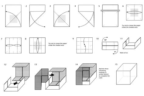 Shafer Origami Diagrams - origami how to make an origami magic cube valerie