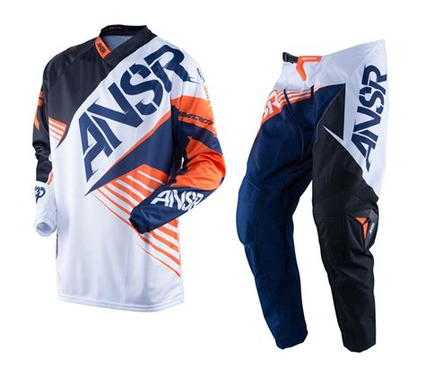 white motocross gear answer new 2016 youth mx syncron white black orange ktm