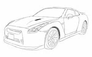 How To Draw A Nissan Gtr Nissan Gtr R35 Sketch By Xrasnovax On Deviantart