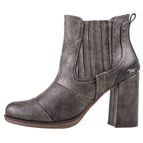 mustang heel ankle boot 1256501 20 womens boots in grey