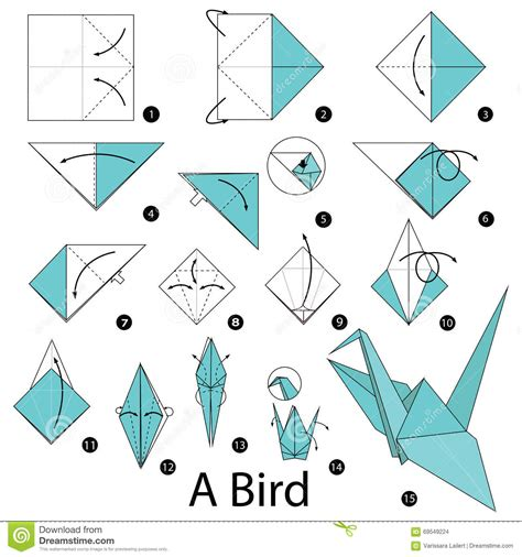 How To Make A Bird With A Paper - step by step how to make origami a bird