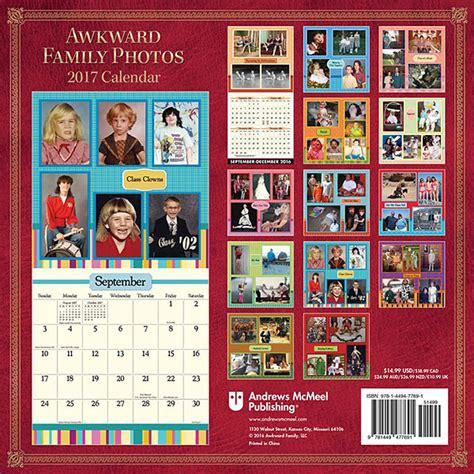 Family Calendar 2017 Awkward Family Photos Calendar