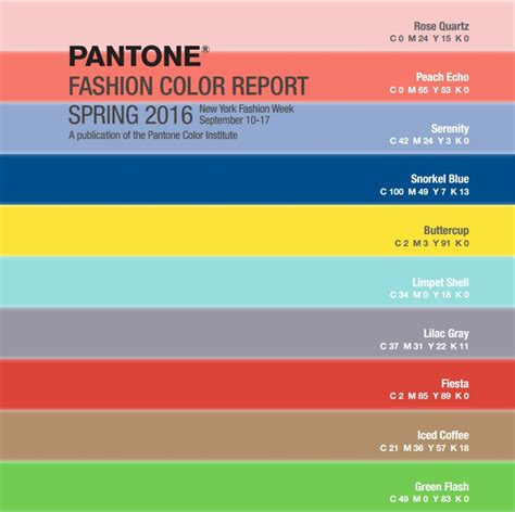 colors for 2016 colors for spring 2016 pantone color report