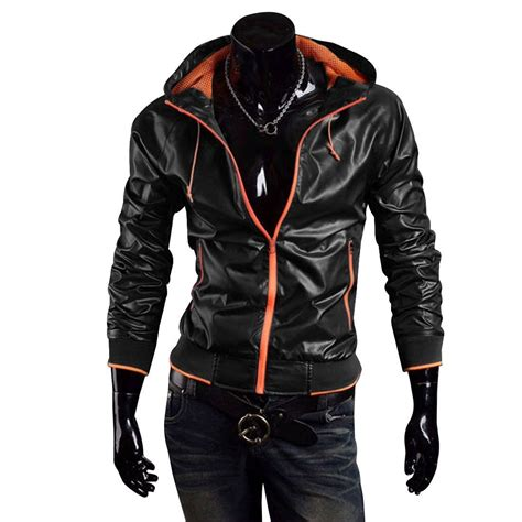 Handmade Jackets - new handmade stylish bomber hooded leather jacket